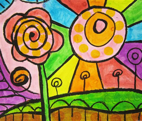 pattern cat art lesson spirals flowers and patterns learning about