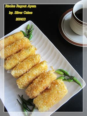 silver cakes risoles ragout ayam