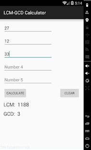 lcm gcd calculator android apps on google play