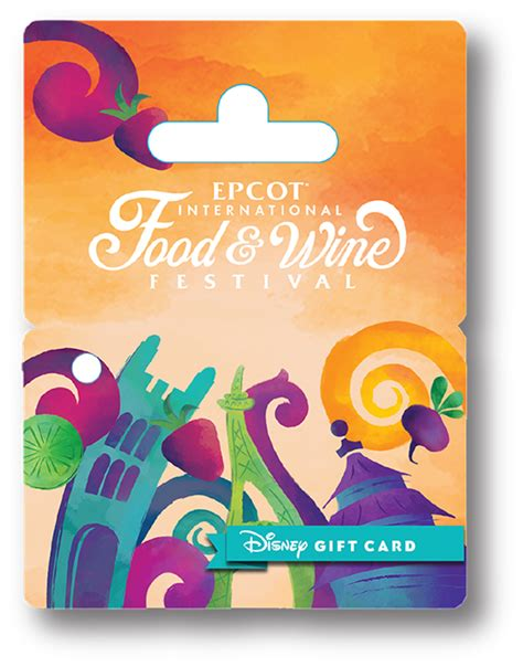 Sea World Gift Cards - new wearable disney gift card designed for epcot international food wine festival