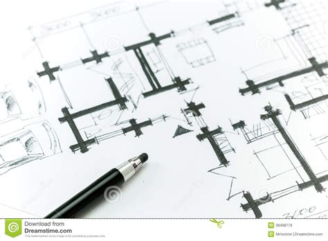 sketch plans sketch house plan stock illustration image of image 39498779