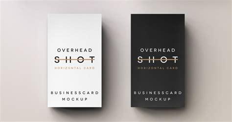 name card design template psd psd overhead business card psd mock up templates