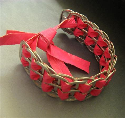 DIY Duct Tape Soda Can Tab Bracelet   101 Duct Tape Crafts