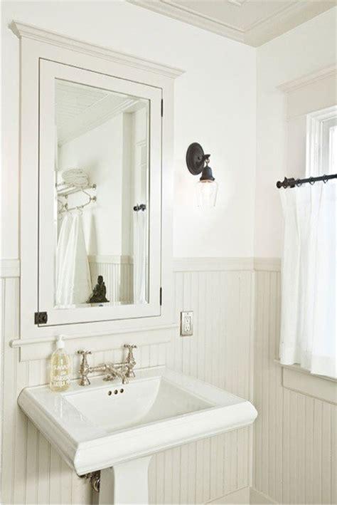 white beadboard bathroom white bathroom with cream beadboard maybe do the opposite