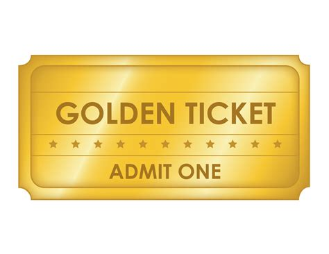 Free Printable Golden Ticket Templates Blank Golden Tickets Free Ticket Template