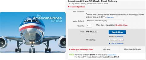 American Airlines Gift Card - buy american airline gift cards with up to 16 5 in targeted credit points and
