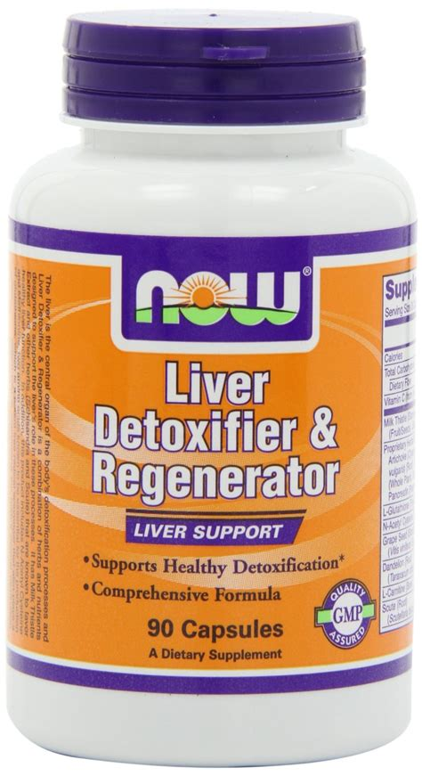 Now Liver Detox Regeneration by Now Foods Liver Detoxifier And Regenerator 90 Capsules