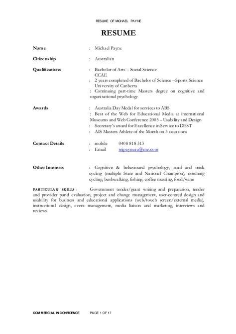 cv payne michael payne resume 141215