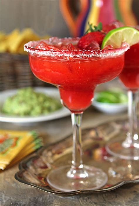 Fresh Strawberry Margaritas Creative Culinary