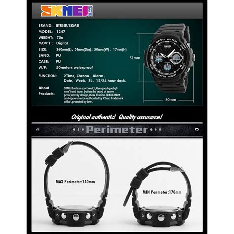 Skmei Jam Tangan Digital Analog Pria Ad1247 Gray Diskon skmei jam tangan digital analog pria ad1247 gray