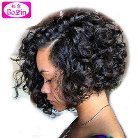 short curly bob wig curly bob wig glueless full lace human hair wigs short
