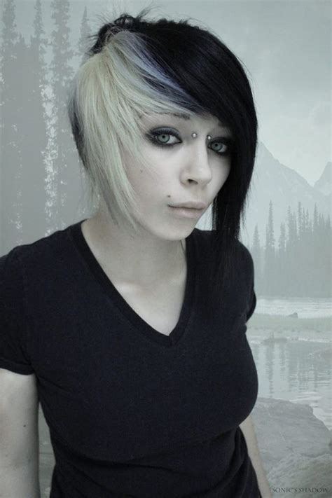 emo hairstyles black and white weird but cool hairstyles 25 best ideas about scene