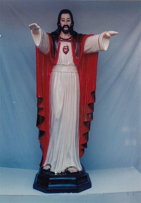 Patung Tuhan Yesus Hati Kudus 1 Meter patung yesus jual patung rohani jual patung yesus jual patung