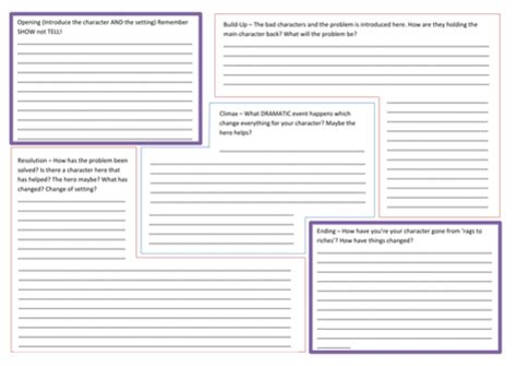 writing planner template story writing planning template by nahoughton teaching