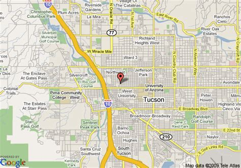 map of tucson tucson map world map