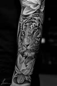 Tiger And Lotus 62 Best Tiger Tattoos On Forearm