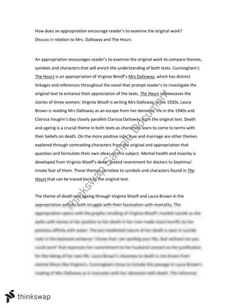 essay themes in mrs dalloway essay on mrs dalloway and the hours year 11 hsc