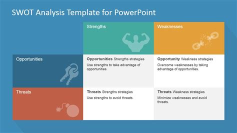 Swot Matrix Powerpoint Template Slidemodel Matrix Powerpoint Template