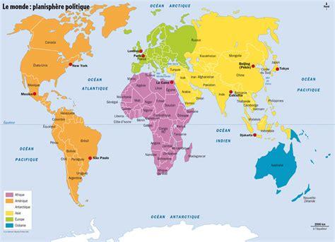 infos sur la carte du monde avec le nom des pays et des villes arts et voyages