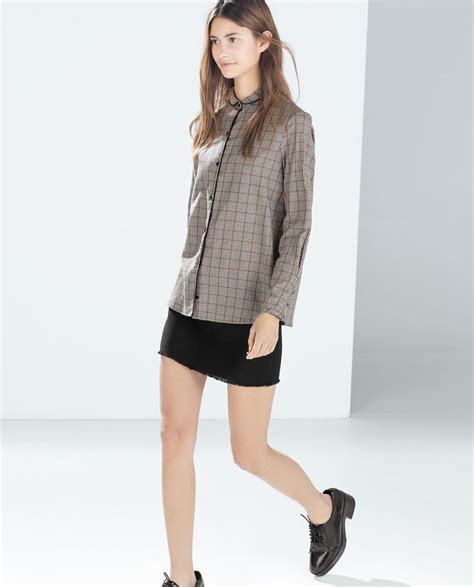 Sale Zak09 Zara Houndstooth Blouse 92 best images about zara inspiration on trousers houndstooth and jumpsuits