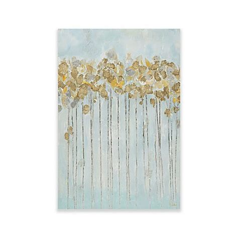 bed bath and beyond forest park madison park minted forest gel coated canvas with gold