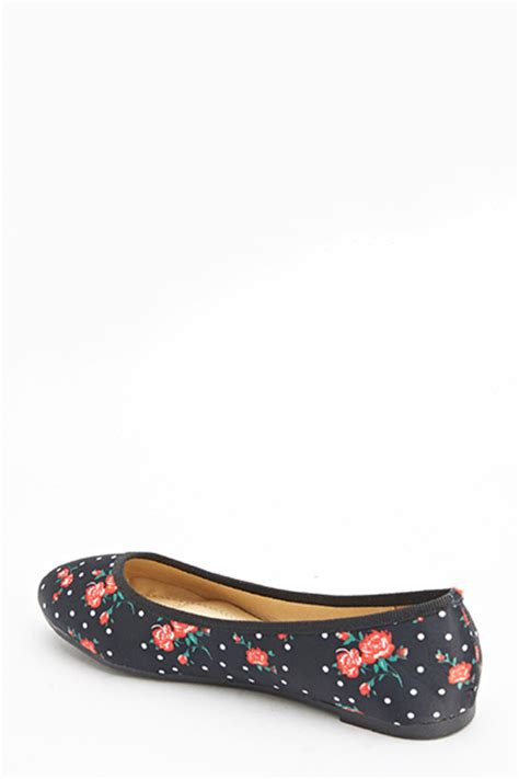 satin flat shoes print satin flat shoes black or blue just 163 5