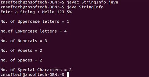 Character Letter Number Java Java Code To Check Number Of Uppercase Letters Lowercase Letters Numerals Vowels Spaces