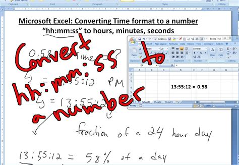 format excel hours and minutes convert time to number seconds hours and minutes in