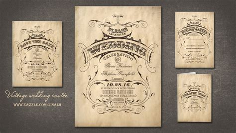 Wedding Invitation Vintage by Modern Day Invite Email Wedding Invitations