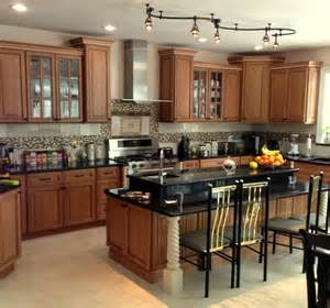 Kitchen with 2 tier island traditional kitchen other metro by