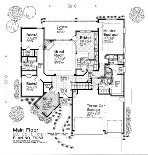 Fillmore House Plans F1953 Fillmore Chambers Design