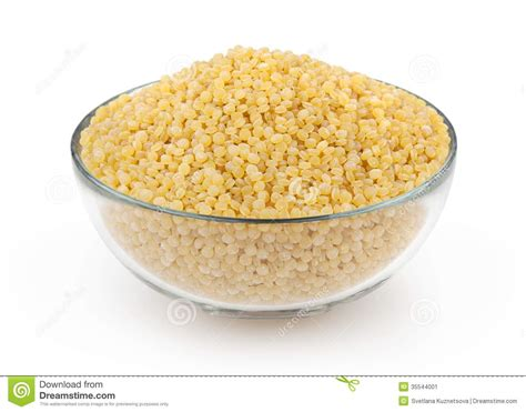 Couscous Isolated On White Stock Image - Image: 35544001