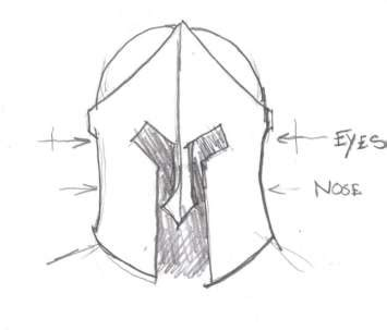 gallery for gt easy gladiator helmet drawing