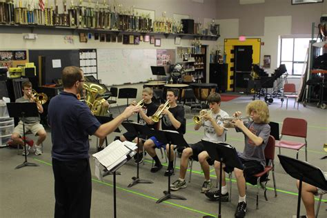 the band room fhntoday senior band members give back to the band room