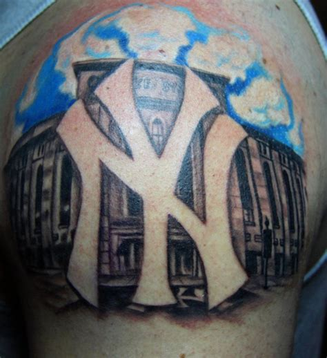yankee tattoo gallery ny yankees logo tattoo by biagiostattoogallery on deviantart
