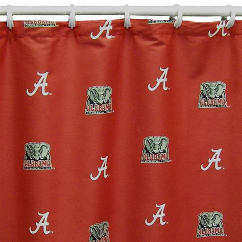 shop college covers alabama cotton alabama crimson tide patterned shower curtain at lowes