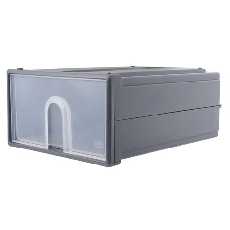 Warehouse Drawers by Oates Large Grey Storage Stacker Drawer Bunnings Warehouse