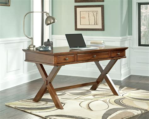 wood desks home office buy burkesville home office desk by signature design from