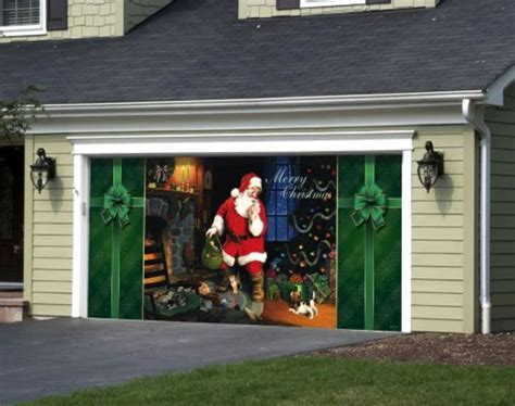 Garage Door Christmas Decorations A Listly List Garage Door Decor
