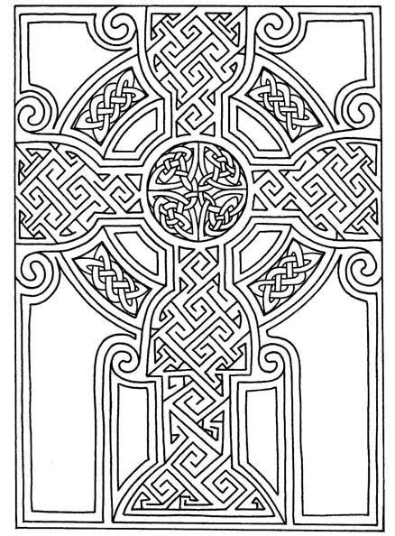 cross mandala coloring pages celtic art free printable celtic cross patterns
