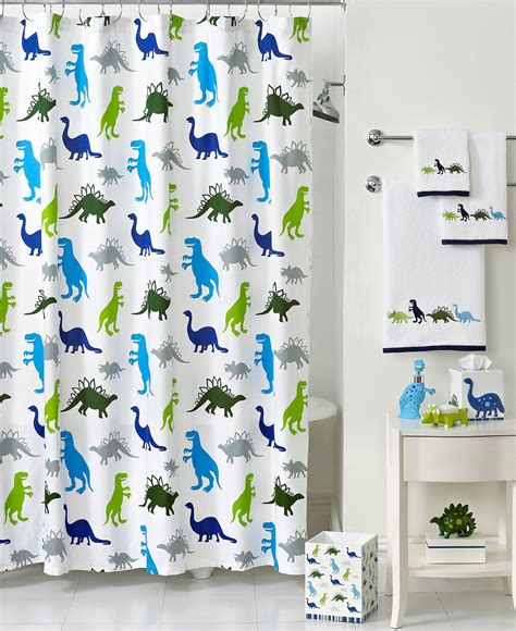 dino curtains kid s bathroom sets for kid friendly bathroom design