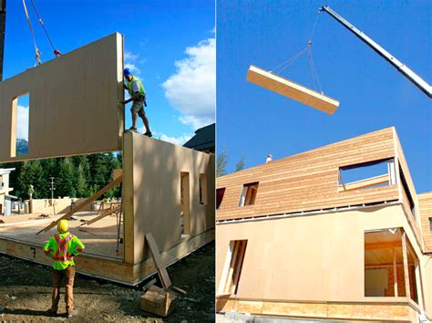 Prefabricated Roof Trusses jetson green a wood panel system for passivhaus