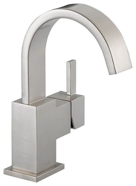 Delta Modern Bathroom Faucets Delta Single Handle Centerset Lavatory Faucet 553lf Ss