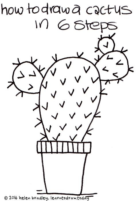 learn how to make doodle learn to draw a cactus in 6 steps learn to draw