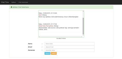 membuat blog sederhana dengan php membuat aplikasi chat sederhana dengan php dan bootstrap 3