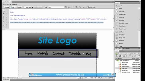 tutorial css website layout dreamweaver tutorial how to create a basic 2 column