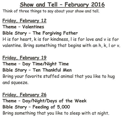 ideas for kindergarten show and tell show and tell ideas preschool play