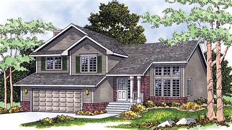 front to back split level house plans front to back split level home plans