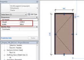 faq how to adjust dimensions in revit to each door