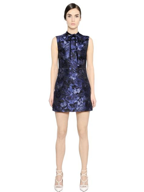 40486 Brocade Lace Knit valentino butterfly silk brocade dress in blue lyst